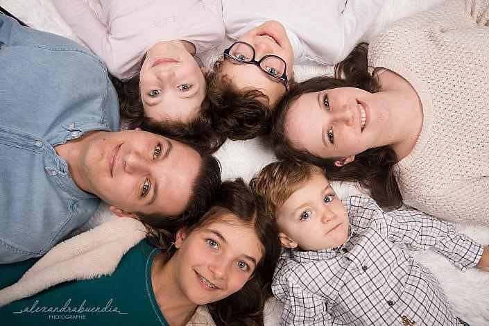 Photo de famille en studio à Lyon